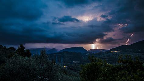 lightning landscape hd wallpaper nature and