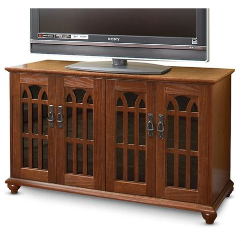 entertainment cabinet with doors mission style tv cabinet with inlaid glass doors