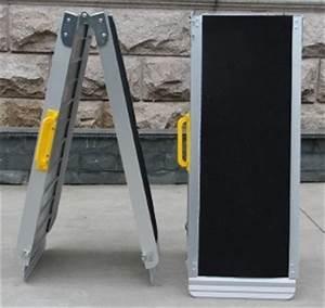 Rampe D Accès Pliable : rampes ergo easy 183cm pliable pour fauteuil roulant et scooter handicape ~ Nature-et-papiers.com Idées de Décoration