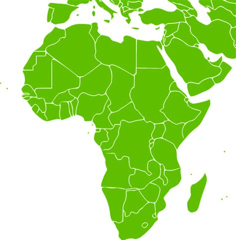 african green free vector graphic africa continent green map free