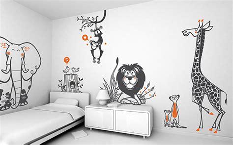 stickers animaux chambre b饕 stickers animaux pour chambre b b et enfants d coration stickers chambre bebe jungle bahbe com