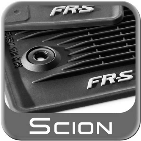 2015 Scion Frs Floor Mats by 2013 2015 Scion Fr S Rubber Floor Mats All Weather Black