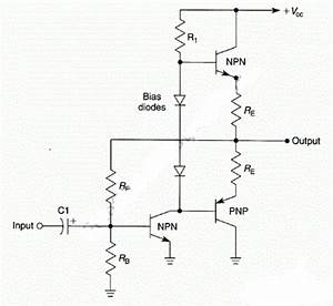 simple complementary push pull power amplifier circuit With push pull amplifier