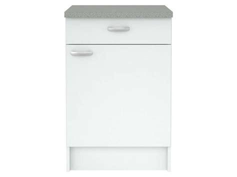 poignee porte cuisine conforama meuble bas cuisine 1 porte 1 tiroir casa coloris blanc
