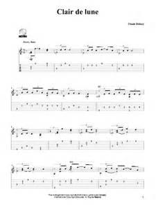 Clair de Lune Tablature Guitare par Claude Debussy
