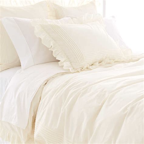 Coverlet Or Duvet by Louisa Ivory Duvet Cover Pine Cone Hill