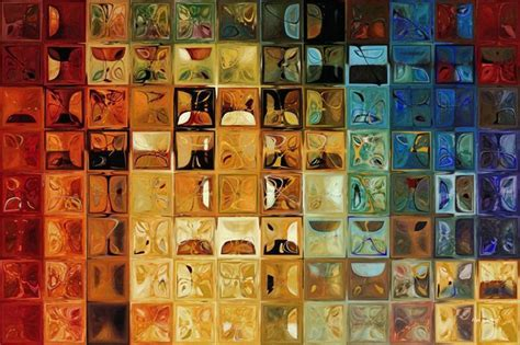 Modern Abstract Mosaic Tile Paintings   Contemporary