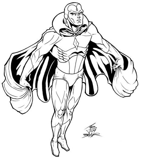 avengers vision coloring pages marvel avenger vision coloring pages lineart hero