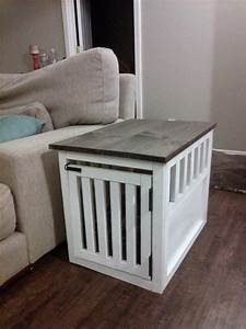 end table dog kennel furniture woodworking projects plans With white dog crate table