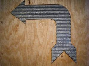 corrugated barn tin bent arrow metal sign medium With corrugated metal letters wholesale