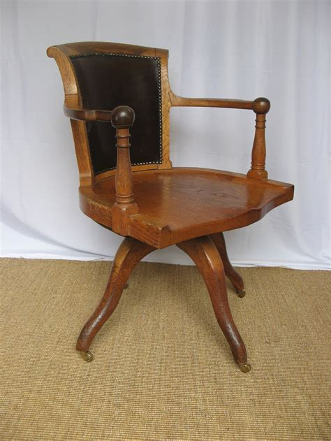 antique swivel desk chair edwardian oak swivel desk chair antiques atlas