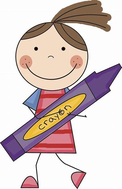 Clipart Crayon Clip Doodle Stick Coloring Cartoon