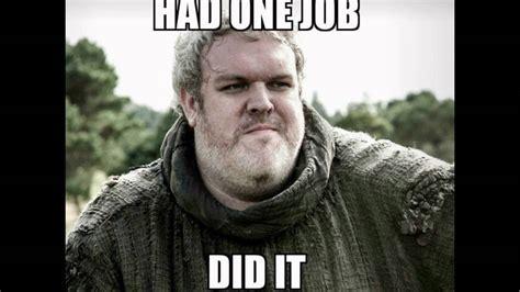 Game Of Thrones Hodor Meme - top 10 hodor memes youtube