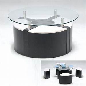 Table Ronde En Verre Conforama : table basse ronde avec pouf conforama maison et meuble de maison ~ Nature-et-papiers.com Idées de Décoration