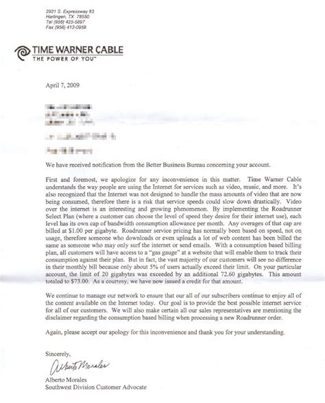 company bureau customer goes to war with warner cable at t