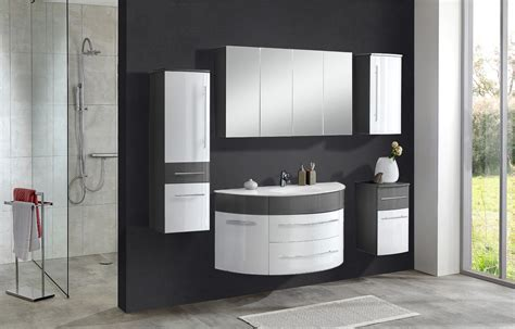 Sam® Badmöbel Set 5tlg Becken 120 Cm Grau Weiß Dublin