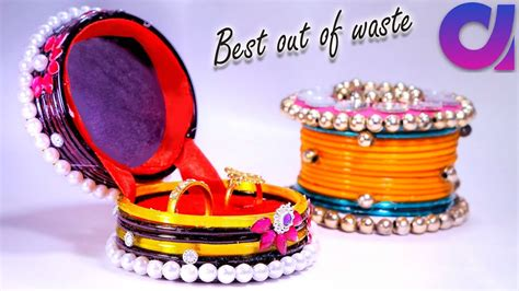 How To Make Ring Storage Boxes From Old Waste Bangles