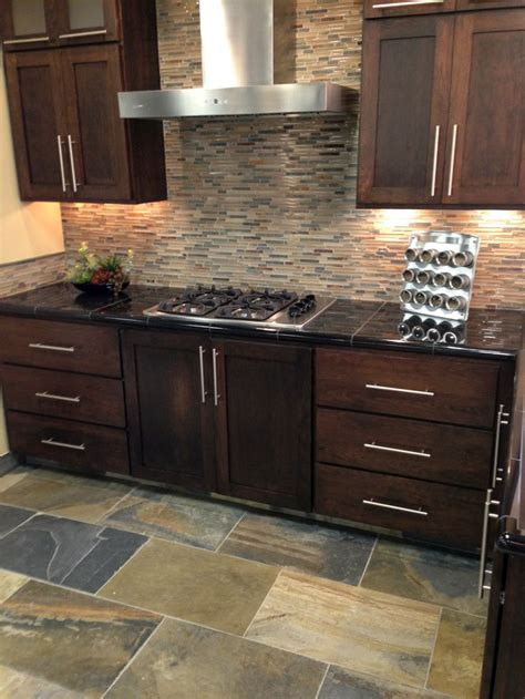 slate backsplash tiles for kitchen 19 best images about kitchen ideas on black