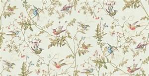 Bird Motif Wallpaper - WallpaperSafari