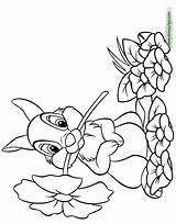 Coloring Thumper Bambi Pages Flower Disney Printable Disneyclips Mouth Funstuff sketch template