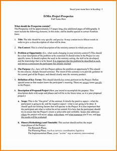example prospectus for research paper