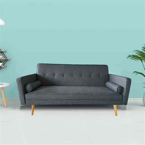Grey Sofa Bed Uk by Grey Sofa Bed With 2 Cushions Tj Hughes