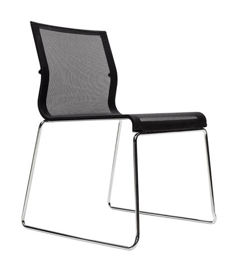 chaises b b chaise empilable stick chair assise tissu noir base