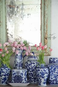 Blue and White French Country Decor