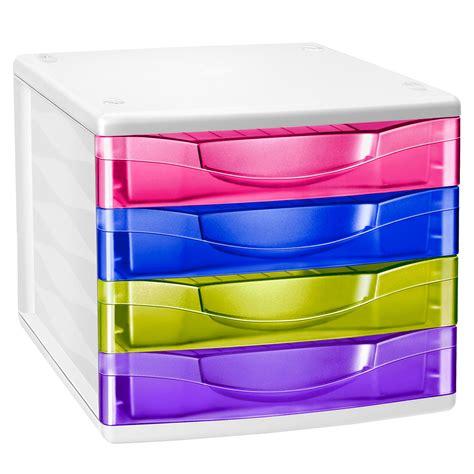 bloc de classement bureau cep bloc de classement 4 tiroirs multicolore