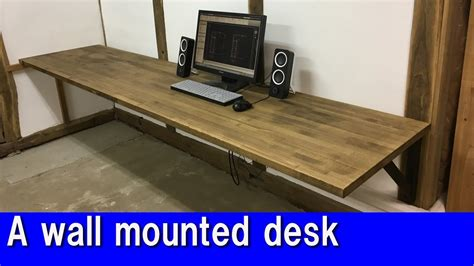 how to make a wall mounted desk diy a wall mounted desk youtube