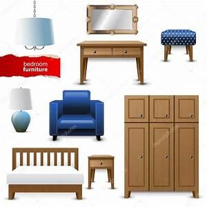 bedroom furniture — Stock Vector © mart_m #60033157