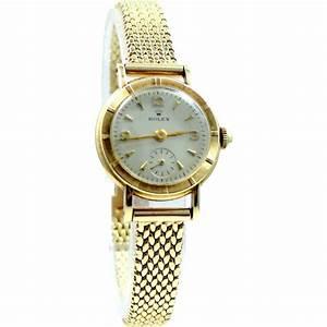 Ladies Retro 14k Gold ROLEX Wrist Watch 14k Gold Case ...