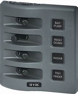 Weatherdeck U00ae 12v Dc Waterproof Switch Panel - 4 Position