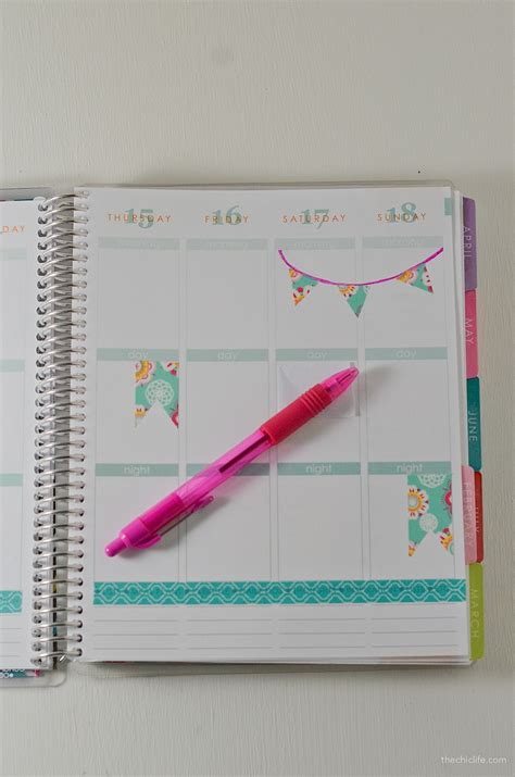 how to decorate with washi how to decorate your planner with washi the chic