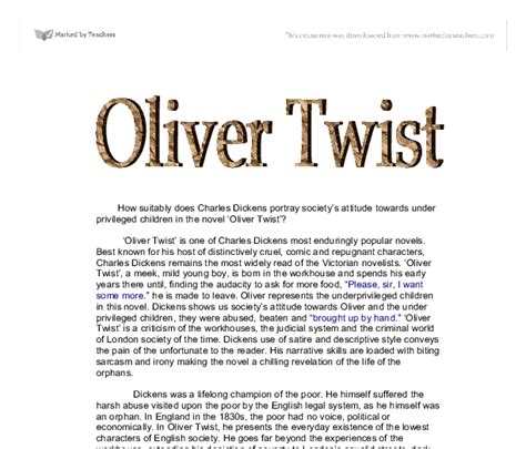Oliver Twist Resume Francais by Essay Questions About Substance Abuse