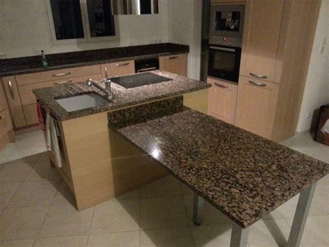 table de cuisine plan de travail plan de travail avec table de cuisine en granit valence