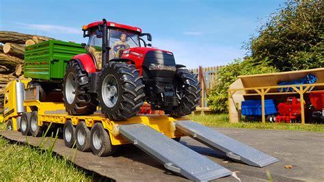 bruder farm bruder rc tractors farm sawdust transport youtube