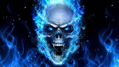 Skull Fire Background Wallpapers Flames Graffiti Diamond