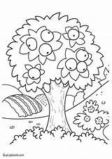 Coloring Tree Apple Printable Teachersmag Cycle Preschool Kindergarten Worksheets Seasons Buylapbook Apples яблоки школа начальная Kb Yellow Different Four Fruit sketch template