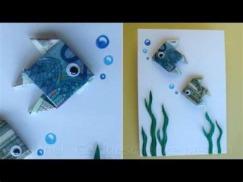 fische aus geld basteln geldschein falten fisch zum geldgeschenke basteln origami