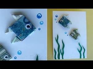 Geld Falten Mäuse Zum Verbraten : geldschein falten fisch zum geldgeschenke basteln origami youtube ~ Orissabook.com Haus und Dekorationen