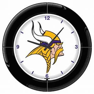 Minnesota Vikings Neon Clock NFL Football Wall Clocks