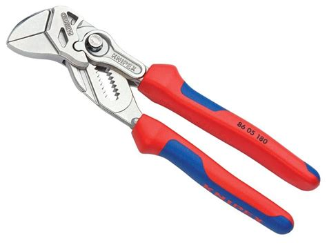 knipex zangenschlüssel 180 knipex 8605180 szczypce płaskie nastawne klucz 2w1 180mm