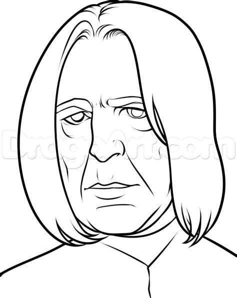 How To Draw Severus Snape Easy, Step By Step, Characters