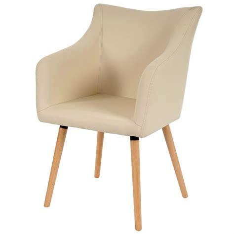 chaises salle à manger cuir lot de 6 chaises de salle à manger simili cuir crème pieds
