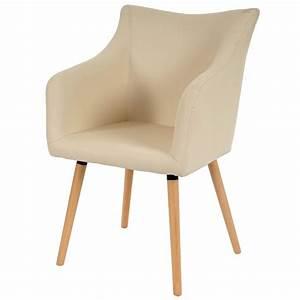 lot de 6 chaises de salle a manger simili cuir creme pieds With salle À manger contemporaineavec chaises salle À manger simili cuir