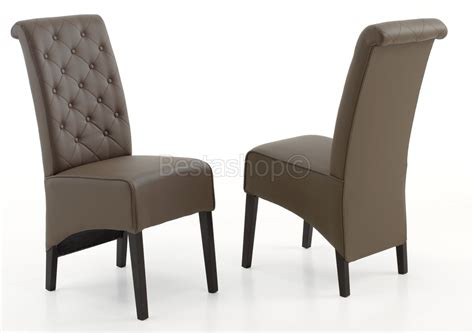 chaise de salle à manger design chaises de salle a manger design capitonnée en pu couleur