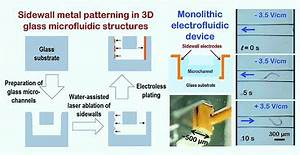 Vertical sidewall electrodes monolithically integrated ...
