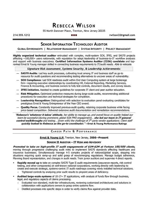doc 537655 external auditor resume template bizdoska