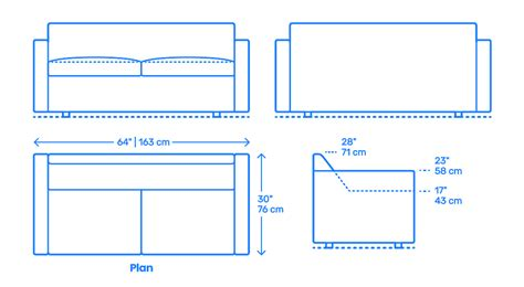 Two Seater Dimensions by Bevel Two Seater Sofa Dimensions Drawings Dimensions Guide